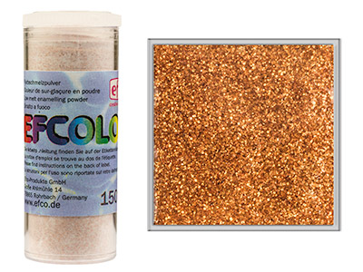 Efcolor Enamel Glitter Copper 10ml