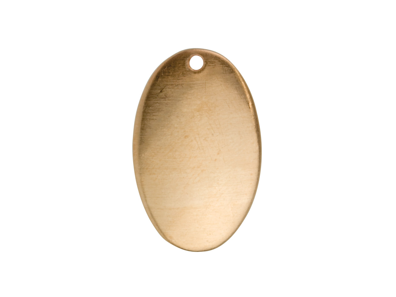 Copper Blanks Domed Oval Pack of 10 26mm X 16mm X 0.9mm