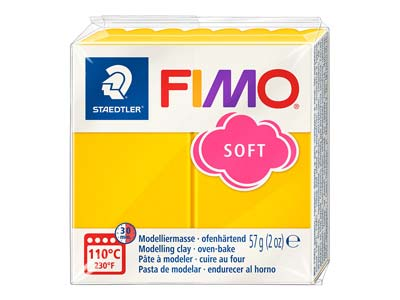 Fimo Soft Sunflower 57g Polymer     Clay Block Fimo Colour Reference 16