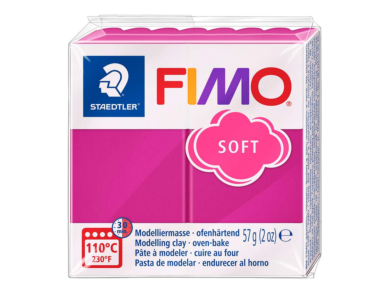 Fimo Soft Raspberry 56g Polymer    Clay Block, Fimo Colour Reference  22