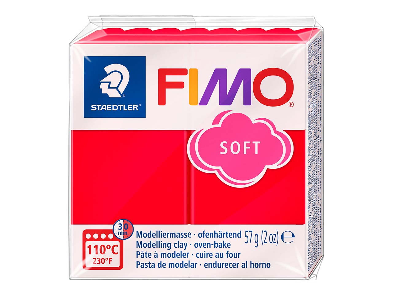 Fimo Soft Indian Red 56g Polymer   Clay Block, Fimo Colour Reference  24