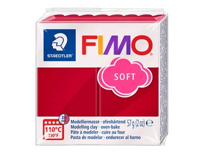Fimo Soft Cherry Red 56g Polymer   Clay Block Fimo Colour Reference  26