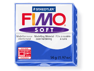 Fimo Soft Brilliant Blue 56g Polymer Clay Block Fimo Colour Reference 33