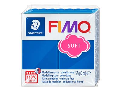Fimo Soft Pacific Blue 56g Polymer Clay Block Fimo Colour Reference 37