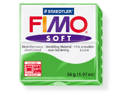 Fimo Soft Apple Green 56g Polymer Clay Block Fimo Colour Reference 50