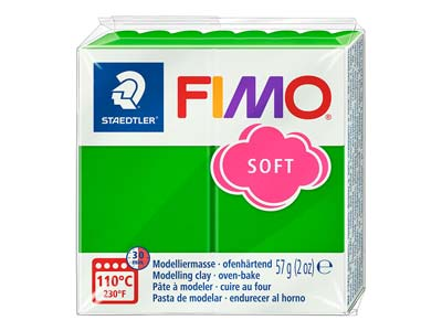 Fimo Soft Tropical Green 56g Polymer Clay Block Fimo Colour Reference 53