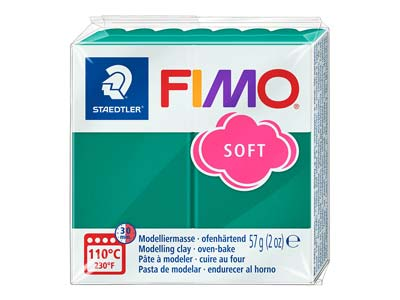 Fimo Soft Emerald 56g Polymer Clay Block Fimo Colour Reference 56
