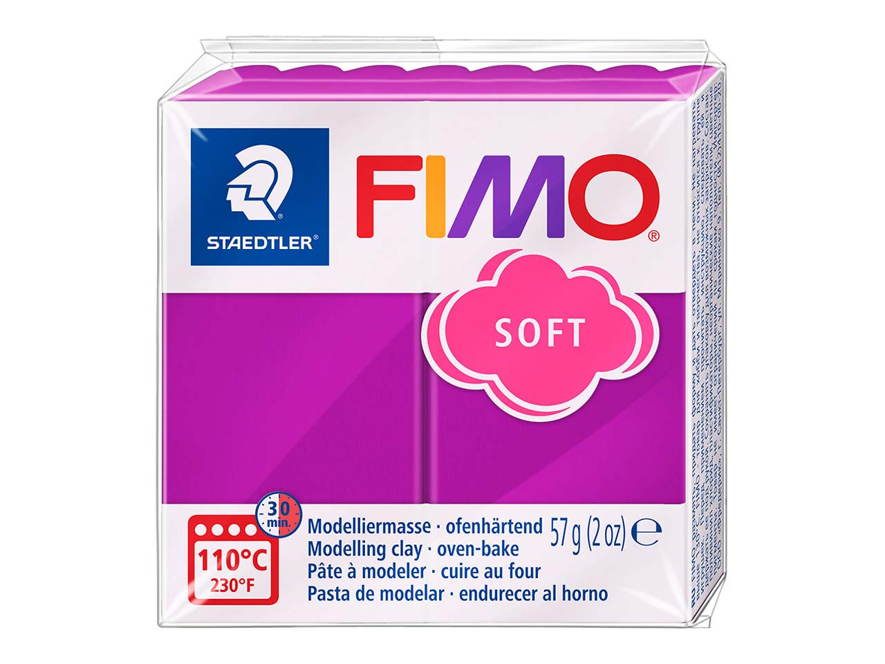 Fimo Soft Purple Violet 57g Polymer Clay Block, Fimo Colour Reference   61
