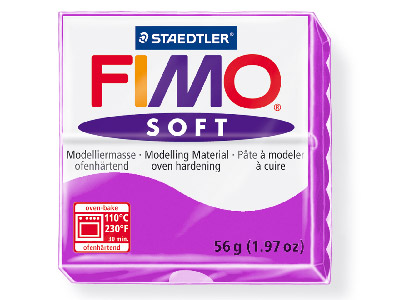 Fimo Soft Lavender 56g Polymer Clay Block Fimo Colour Reference 62