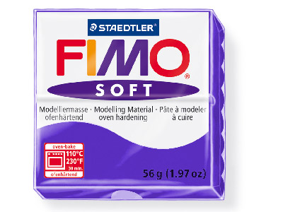 Fimo Soft Plum 56g Polymer Clay Block Fimo Colour Reference 63