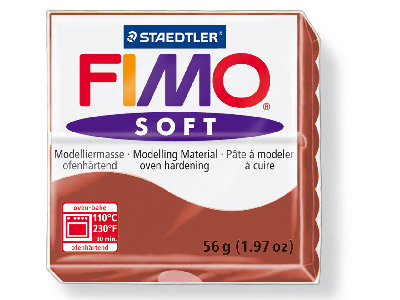 Fimo Soft Caramel 56g Polymer Clay Block Fimo Colour Reference 7