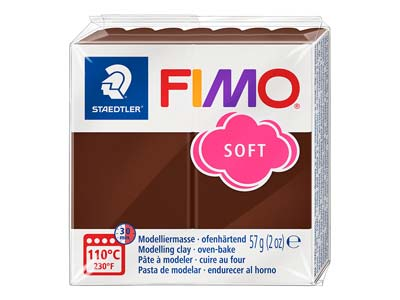 Fimo Soft Chocolate 57g Polymer     Clay Block Fimo Colour Reference 75