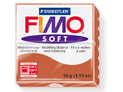Fimo Soft Cognac 56g Polymer Clay Block Fimo Colour Reference 76
