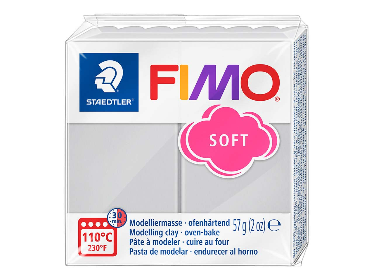 Fimo Soft Dolphin Grey 57g Polymer  Clay Block Fimo Colour Reference 80