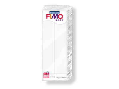 Fimo Soft White Large 350g Polymer Clay Block Fimo Colour Reference 0