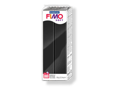 Fimo Soft Black 350g Polymer Clay  Block Fimo Colour Reference 9
