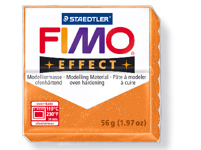 Fimo Effect Glitter Gold 56g Polymer Clay Block, Fimo Colour Reference 112