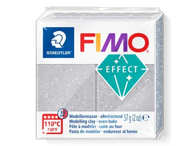 Fimo Effect Glitter Silver 57g     Polymer Clay Block Fimo Colour     Reference 812