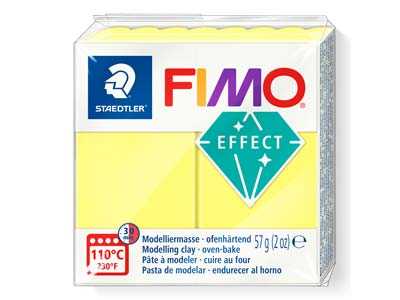 Fimo Effect Translucent Yellow 57g Polymer Clay Block Fimo Colour     Reference 104