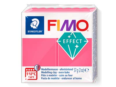 Fimo Effect Translucent Red 57g    Polymer Clay Block Fimo Colour     Reference 204