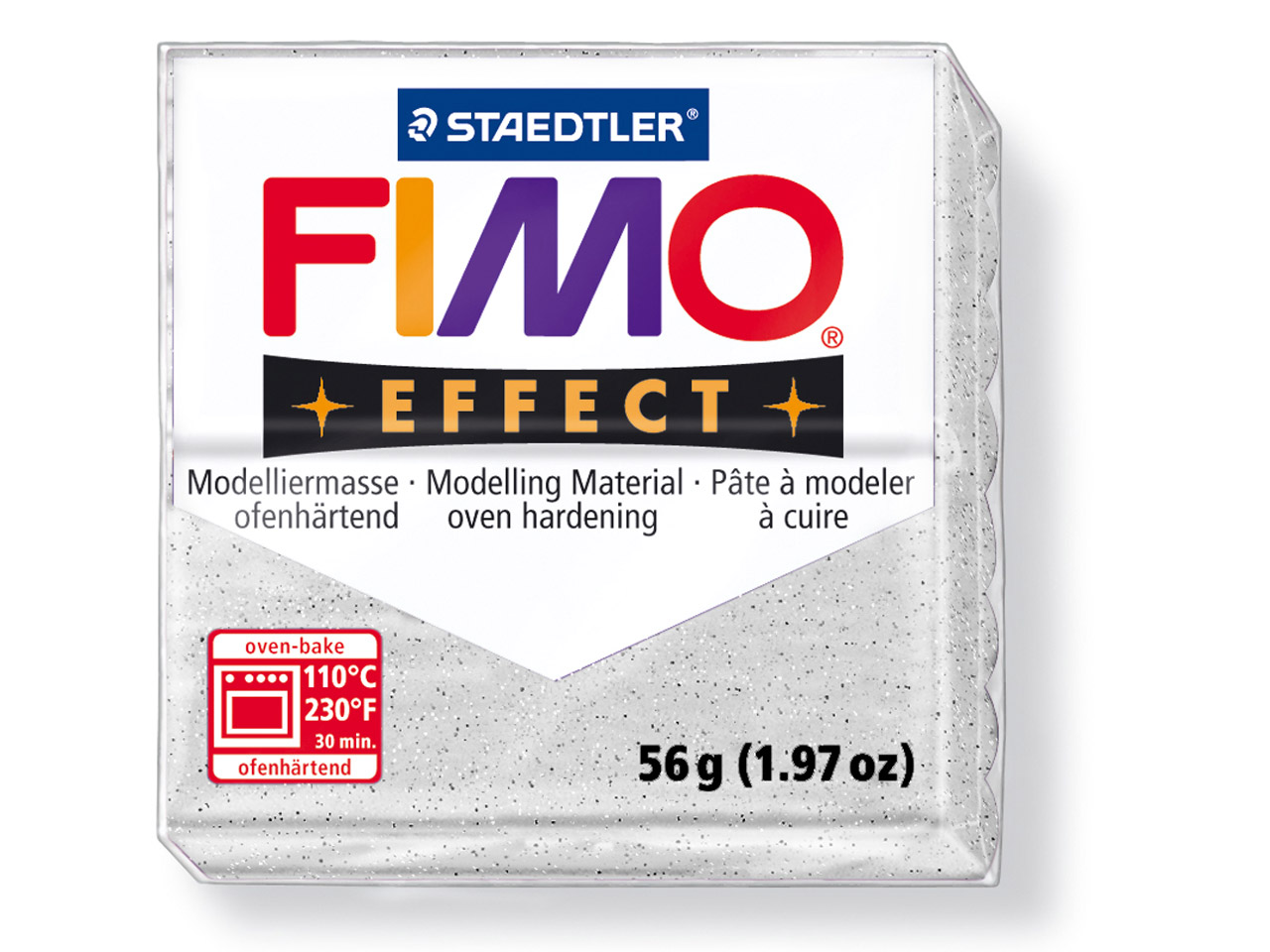Fimo Effect Marble 56g Polymer Clay Block, Fimo Colour Reference 003