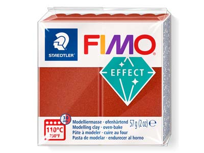 Fimo Effect Metallic Copper 56g Polymer Clay Block, Fimo Colour Reference 27