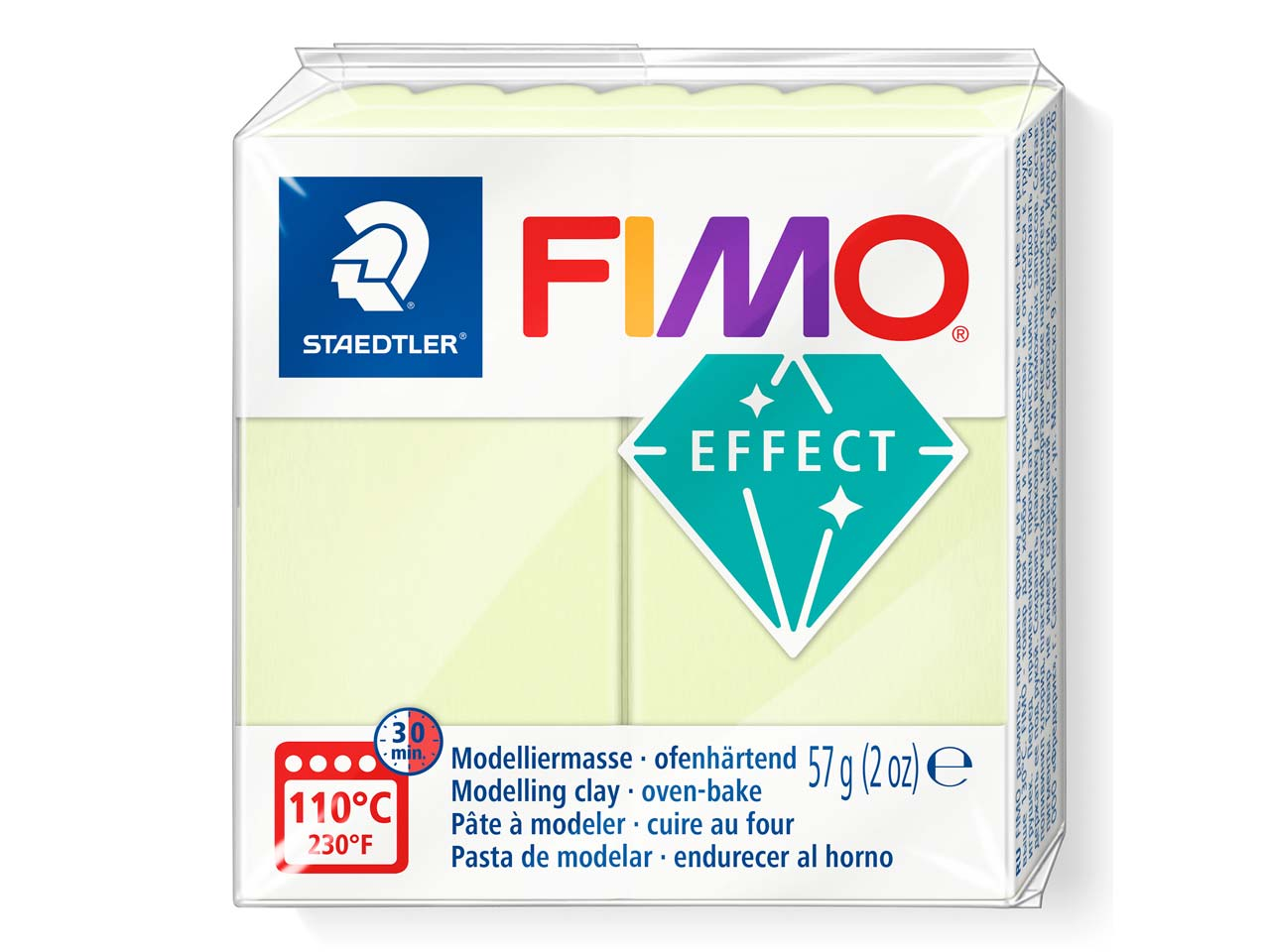 Fimo Effect Pastel Vanilla 57g     Polymer Clay Block Fimo Colour     Reference 105
