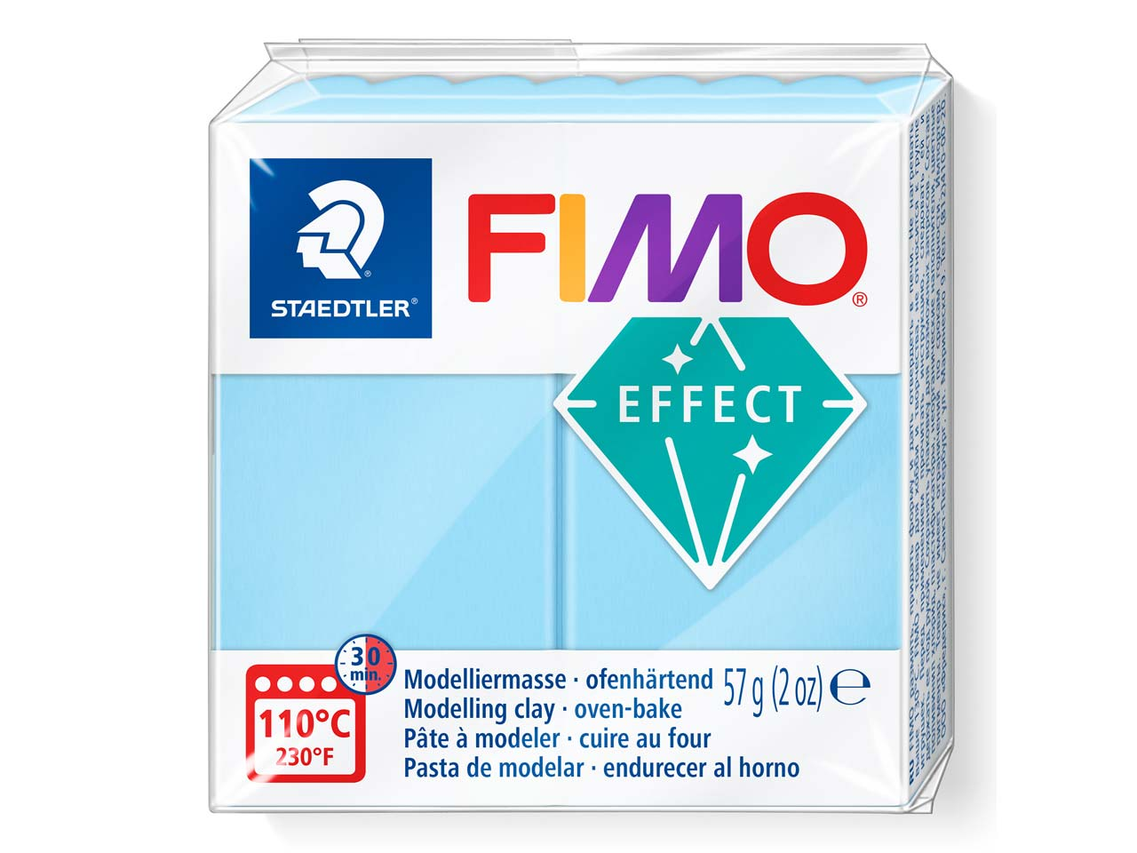Fimo Effect Pastel Aqua 57g Polymer Clay Block Fimo Colour Reference    305