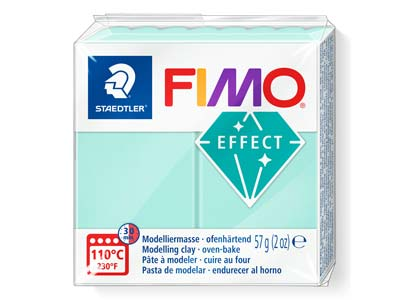 Fimo Effect Pastel Mint 56g Polymer Clay Block Fimo Colour Reference   505
