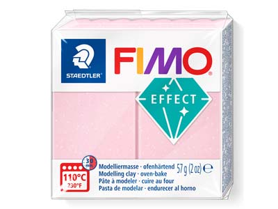 Fimo Effect Gemstone Rose Quartz   56g Polymer Clay Block Fimo       Colour Refernce 206