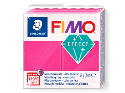 Fimo Effect Gemstone Ruby Quartz    56g Polymer Clay Block Fimo Colour Reference 286