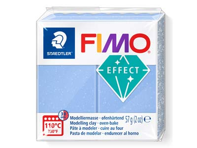 Fimo Effect Gemstone Agate Blue 57g Polymer Clay Block Fimo Colour      Reference 386