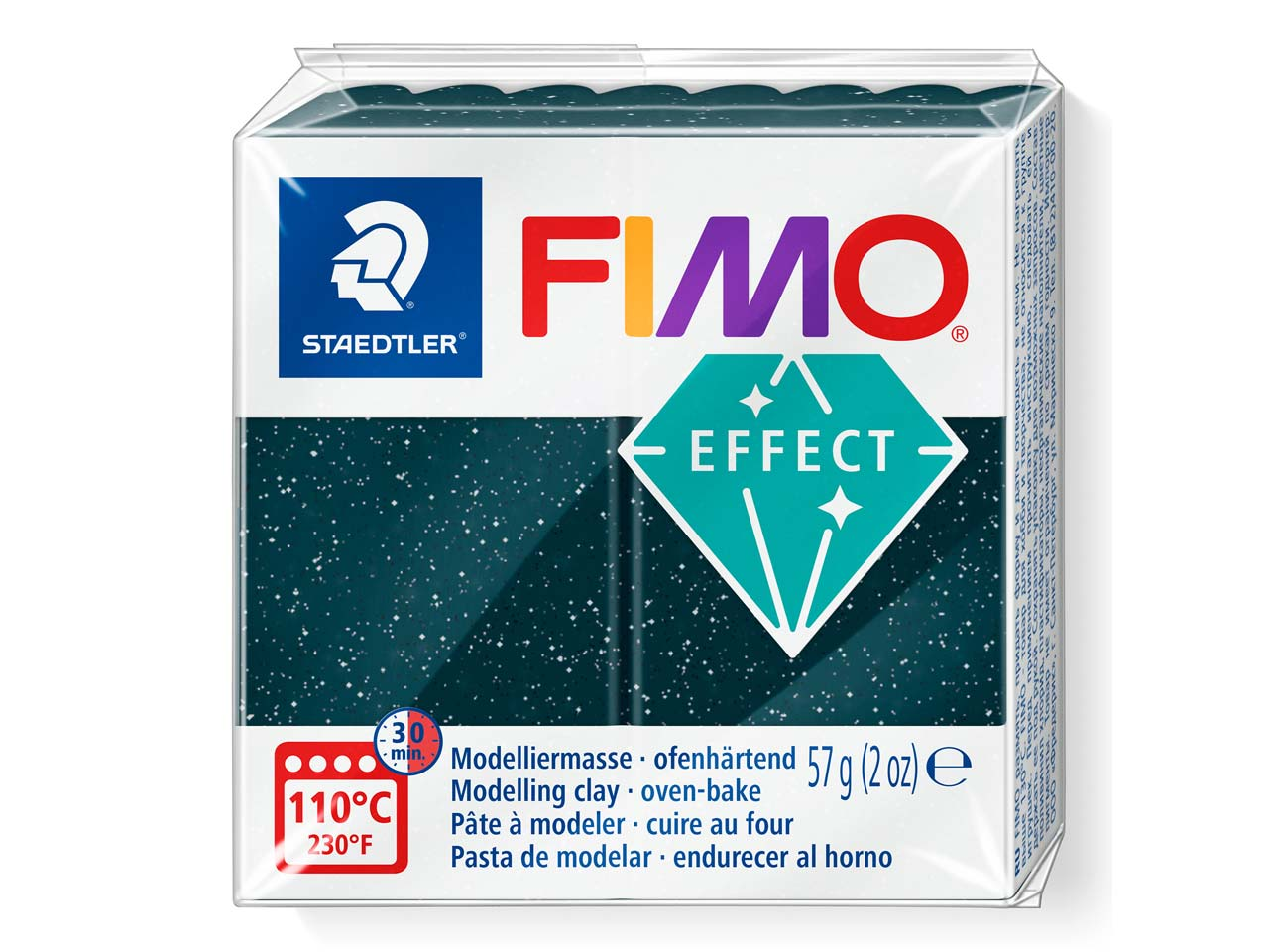 Fimo Effect Gemstone Stardust 56g  Polymer Clay Block, Fimo Fimo      Colour Reference 903