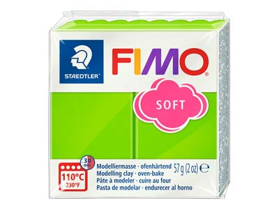 Fimo Soft Apple Green 57g Polymer   Clay Block Fimo Colour Reference 50