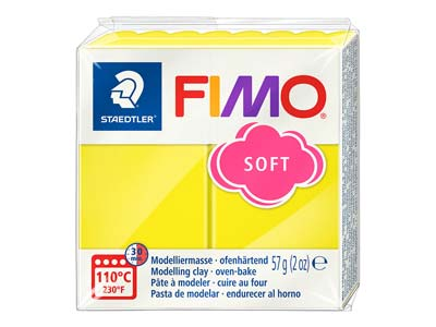 Fimo Soft Lemon 57g Polymer Clay   Block Fimo Colour Reference 10