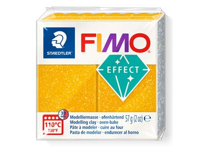 Fimo Effect Gold Glitter 57g       Polymer Clay Block Fimo Colour     Reference 112