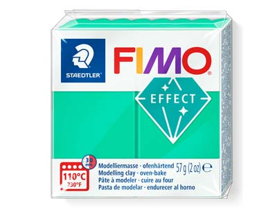 Fimo Effect Green Translucent 57g  Polymer Clay Block Fimo Colour     Reference 504