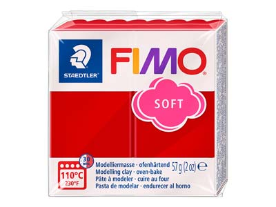 Fimo Soft Christmas Red 57g Polymer Clay Block Fimo Colour Reference 50