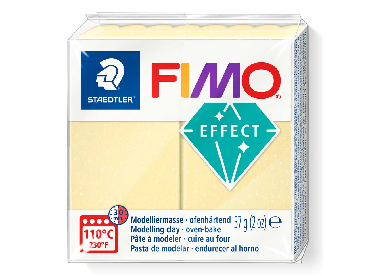 Fimo Effect Citrine Gemstone 57g   Polymer Clay Block Fimo Colour     Reference 106