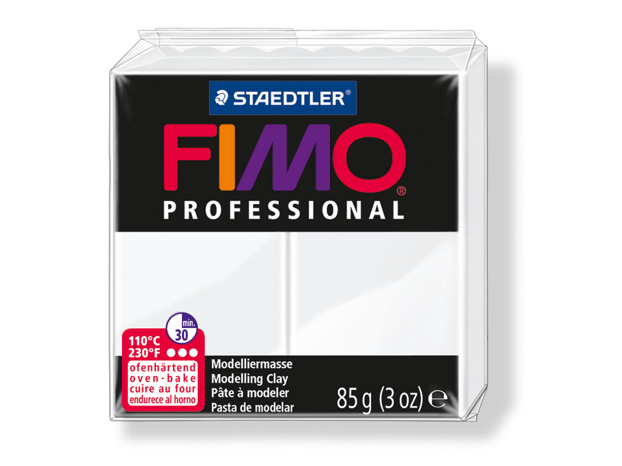 Fimo Professional White 85g Polymer Clay Block Fimo Colour Reference 0