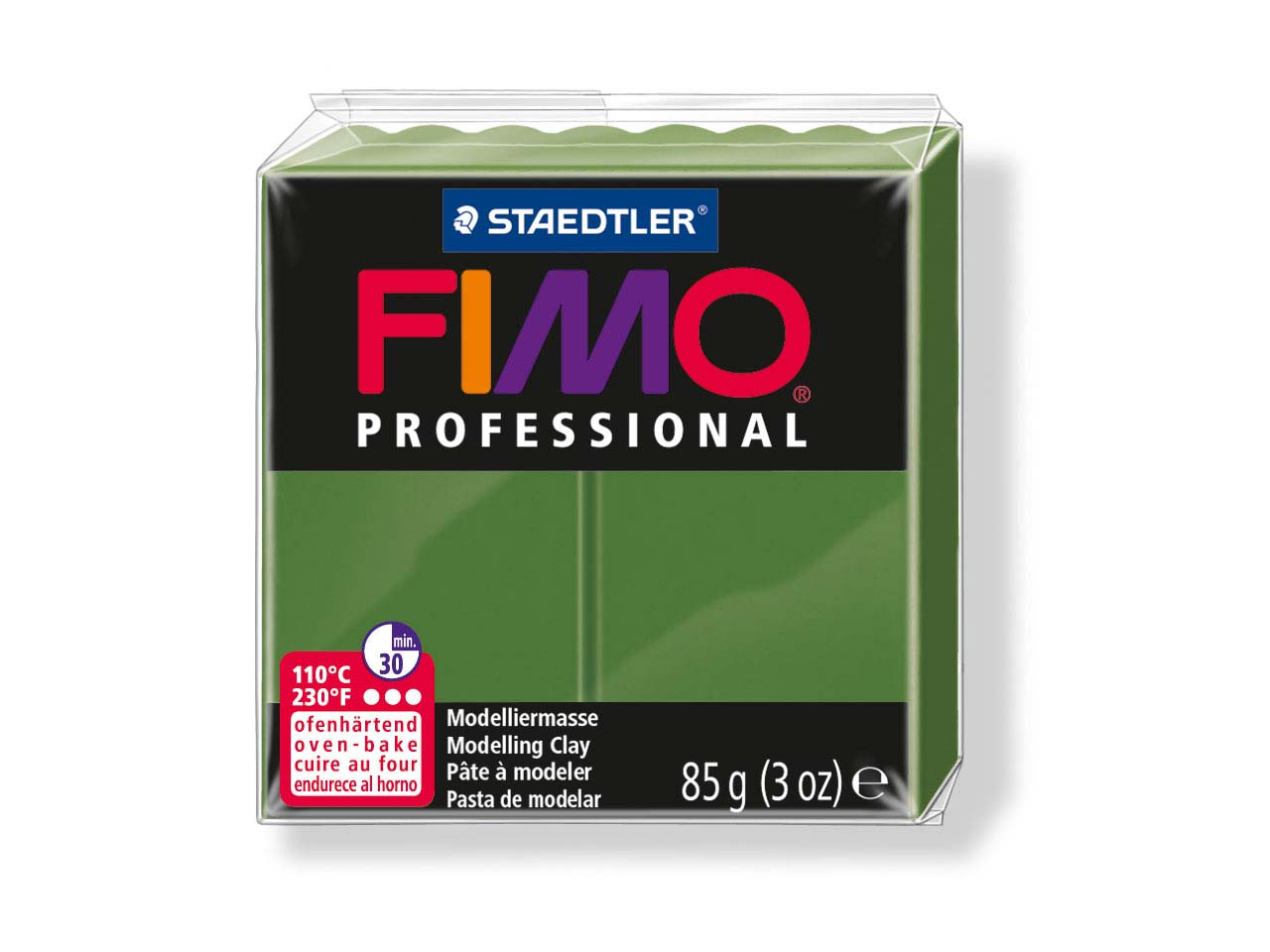 Fimo Professional Leaf Green 85g   Polymer Clay Block Fimo Colour     Reference 57