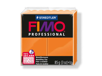 Fimo Professional Orange 85g       Polymer Clay Block Fimo Colour     Reference 4