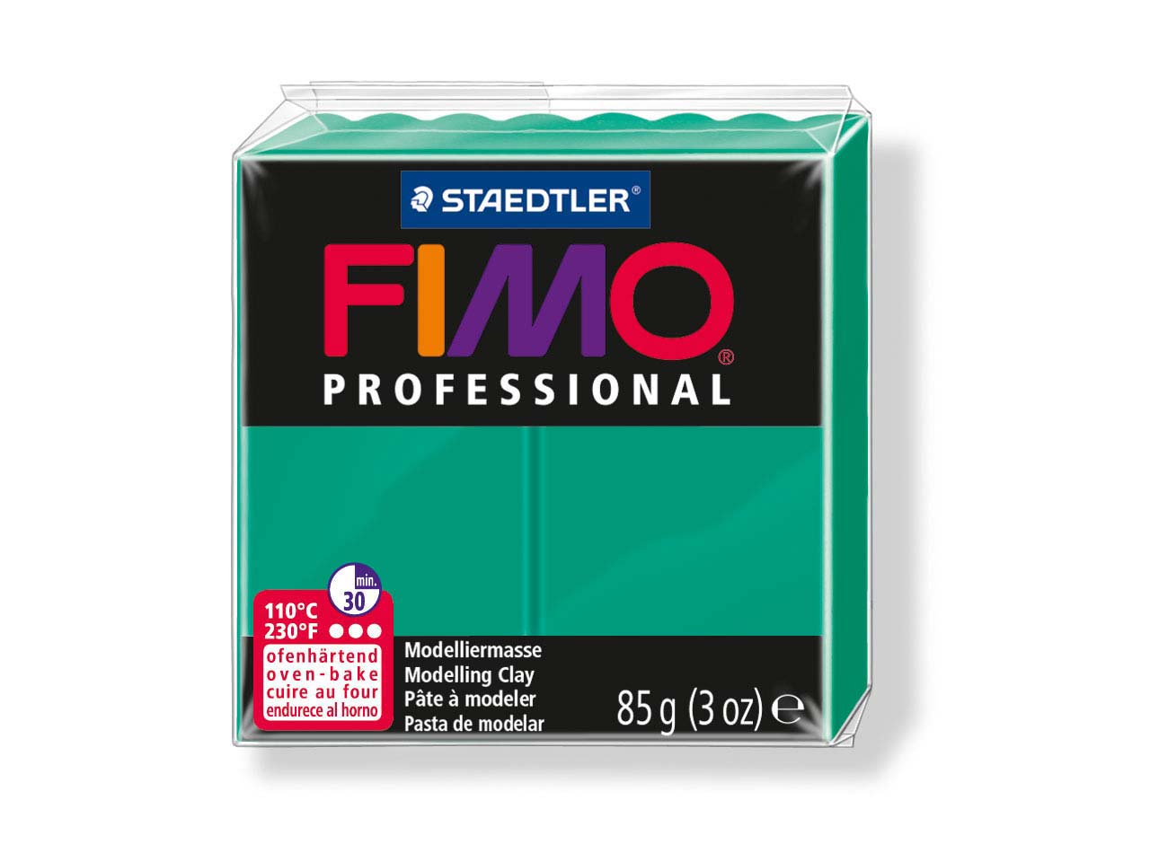 Fimo Professional True Green 85g   Polymer Clay Block Fimo Colour     Reference 500