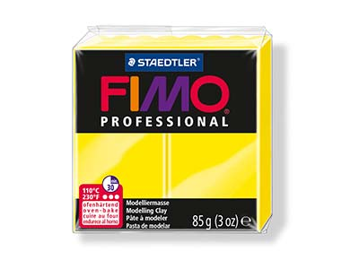 Fimo Professional Lemon Yellow 85g Polymer Clay Block Fimo Colour     Reference 1