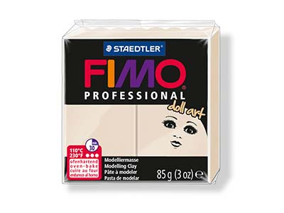 Fimo Professional Doll Art Beige   85g Polymer Clay Block Fimo Colour Reference 44