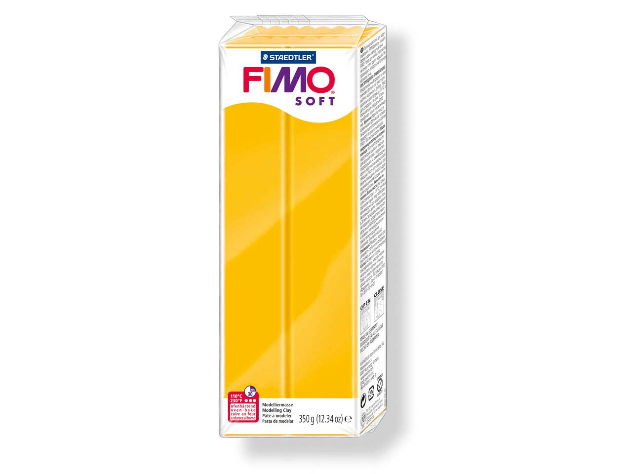 Fimo Soft Sunflower 350g Polymer    Clay Block Fimo Colour Reference 16