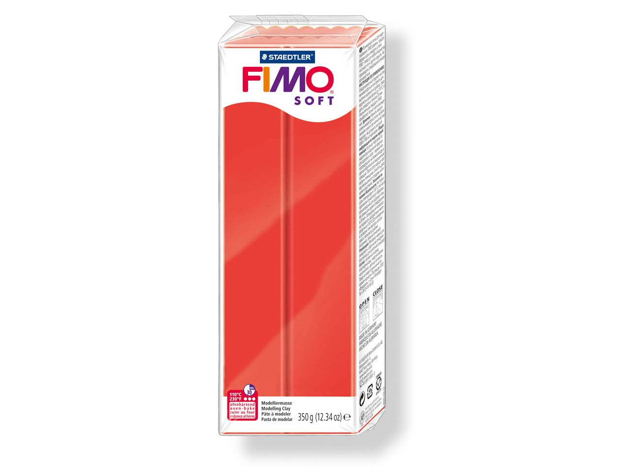 Fimo Soft Indian Red 350g Polymer   Clay Block Fimo Colour Reference 24