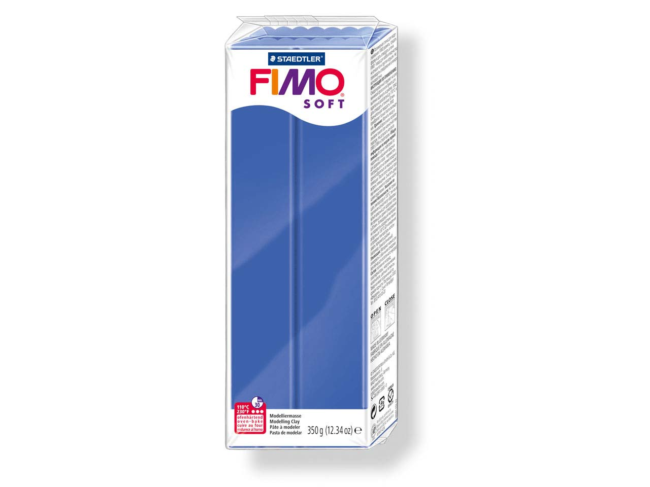 Fimo Soft Brilliant Blue 350g      Polymer Clay Block Fimo Colour     Reference 33