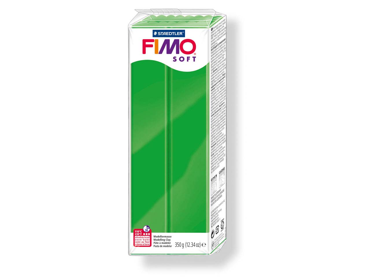 Fimo Soft Tropical Green 350g      Polymer Clay Block Fimo Colour     Reference 53