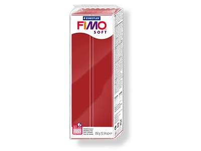 Fimo Soft Christmas Red 350g       Polymer Clay Block Fimo Colour     Reference 2 P